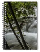 Rapids In Forest  Spiral Notebook