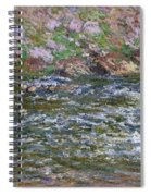 Rapids On The Petite Creuse At Fresselines, 1889 Spiral Notebook