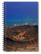 Rare Aerial View Of Extinct Volcanic Crater In Hawaii.  Spiral Notebook