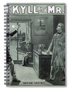 Rare Dr. Jekyll And Mr. Hyde Transformation Poster Spiral Notebook