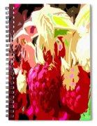 Raspberry Bush Spiral Notebook