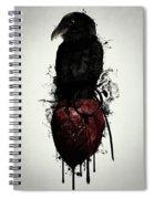 Raven And Heart Grenade Spiral Notebook