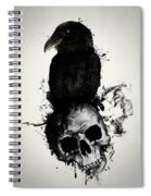 Raven And Skull Spiral Notebook