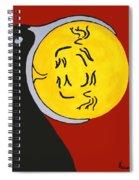 Raven Elk Moon  -013 Spiral Notebook