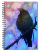 Raven In Spring Spiral Notebook