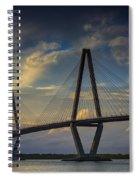 Ravenel Bridge Sunset Spiral Notebook