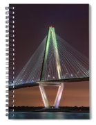 Ravenel Bridge Twilight Spiral Notebook