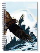 Ravens And The Stormy Sea Spiral Notebook