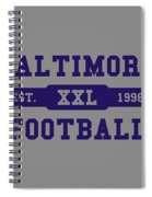 Ravens Retro Shirt Spiral Notebook