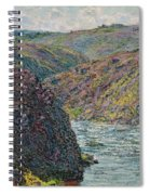 Ravines Of The Creuse At The End Of The Day Spiral Notebook
