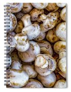 Raw Mushrooms Spiral Notebook