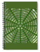 Rays And Circles Abstract 01 Spiral Notebook
