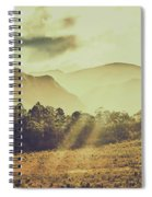 Rays Of Dusk Spiral Notebook