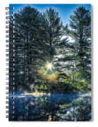 Rays Of Light On The Androscoggin River Spiral Notebook