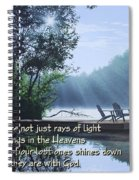 Rays Of Light - Place To Ponder Spiral Notebook