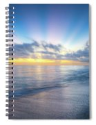 Rays Over The Reef Spiral Notebook