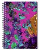 Razberry Ocean Of Butterflies Spiral Notebook