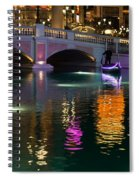 Razzle Dazzle - Colorful Neon Lights Up Canals And Gondolas At The Venetian Las Vegas Spiral Notebook