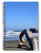 Reaching Back To The Sea Spiral Notebook