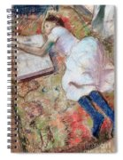 Reader Lying Down Spiral Notebook