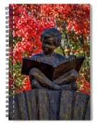 Reading Boy - Santa Fe Spiral Notebook