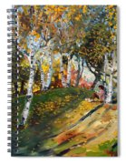 Reading In The Park  Spiral Notebook