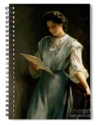 Reading The Letter  Spiral Notebook