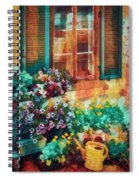 Ready To Water The Garden Oil Painting Spiral Notebook