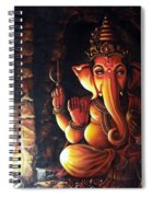 Portrait Of Lord Ganapathy Ganesha Spiral Notebook