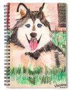 Rebel The Husky  Spiral Notebook