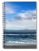 Receding Fog Seascape Spiral Notebook