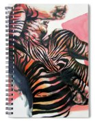 Reclined Striped And Symbolic  Spiral Notebook
