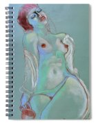 Reclining Figure With Coffee Cup Spiral Notebook