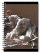 Reclining Figure With Skirt Spiral Notebook