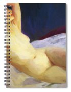 Reclining Nude Barbara Brown 1916 Spiral Notebook