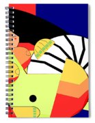 Reclining Nude In Blue And Red Spiral Notebook