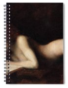 Reclining Nude Woman Reading A Book  Spiral Notebook