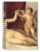 Reclining Venus With Cupid Spiral Notebook