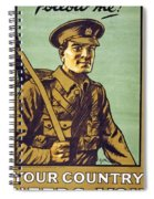 Recruitment Poster Follow Me Your Country Needs You Spiral Notebook
