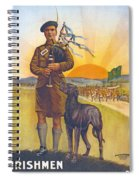 Recruitment Poster The Call To Arms Irishmen Dont You Hear It Spiral Notebook