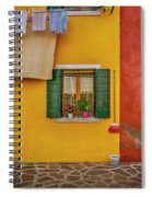 Rectangle Iterations Broom And Laundry Burano_dsc5134_03042017 Spiral Notebook