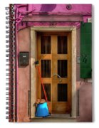 Rectangle Iterations Door Broom And Bucket_dsc5127_03042017 Spiral Notebook