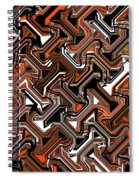 Recurring Pattern Abstract Spiral Notebook