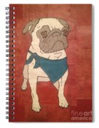 Recycled Pug Spiral Notebook