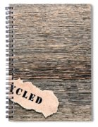 Recycled Wood Spiral Notebook