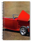 Red 1932 Ford Hot Rod  Spiral Notebook