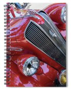 Red 1938 Plymouth Spiral Notebook