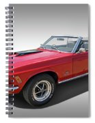 Red 1970 Mach 1 Mustang 351 Cleveland Spiral Notebook