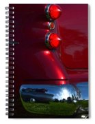 Red 50's Classic Tail Light Spiral Notebook