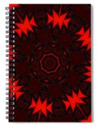 Red Abstract 031211 Spiral Notebook